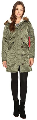 Alpha Industries Elyse Parka (Black) Women's Jacket