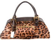 Dolce & Gabbana Ponyhair & Leather Handle Bag