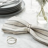 Crate & Barrel Aria Silver Napkin Ring