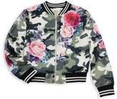 Hannah Banana Little Girl's& Girl's Camouflage Floral Jacket