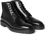 Burberry - Polished-leather Boots