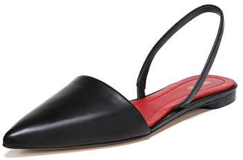 Diane von Furstenberg Koko Slingback Ballerina Flat, Black