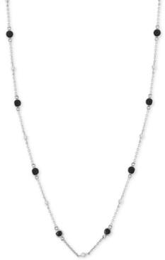 "Effy Diamond Bezel 18"" Statement Necklace (1-1/5 ct. t.w.) in 14k White Gold"