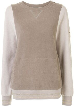 Lorena Antoniazzi Star-Patch Contrast-Sleeve Jumper