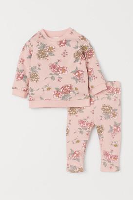 H&M 2-piece Printed Set - Pink