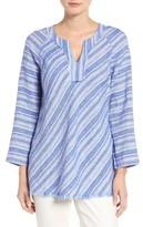Nic+Zoe Women's Freshwater Stripe Linen Blend Tunic