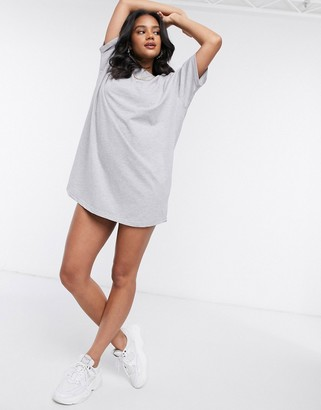 Night Addict slogan oversized t-shirt dress