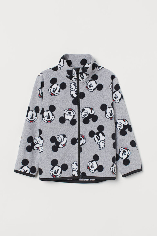 Thumbnail for your product : H&M Printed Fleece Jacket - Gray