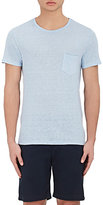 Barneys New York MEN'S LINEN JERSEY T-SHIRT