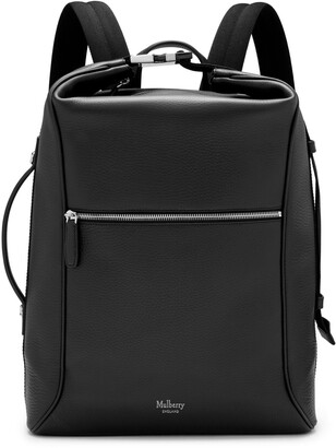 Mulberry Urban Backpack Black Heavy Grain