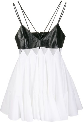David Koma Flared Babydoll Dress