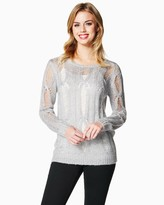 Charming charlie Sequin Flurry Sweater