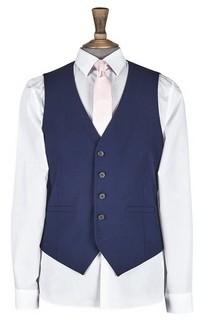 Dorothy Perkins Womens **Burton Midnight Blue Skinny Fit Stretch Waistcoat, Blue