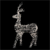 Asstd National Brand 60 White LED Lighted Sitting Reindeer Outdoor Christmas Decoration with Warm White Lights