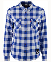 Levi's Women's Indianapolis Colts Plaid Button Up Woven Shirt