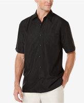Cubavera Men's Big & Tall Floral Jacquard Short-Sleeve Shirt