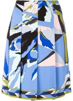 Emilio Pucci abstract print pleated skirt - women - Silk/Spandex/Elastane/Viscose - 38