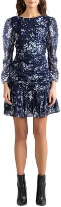 Shoshanna Ann Westminster Floral Ruched Dress