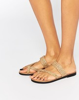 Park Lane Woven Toepost Flat Sandals