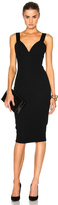 Victoria Beckham Matte Crepe & Satin Cami Fitted Dress