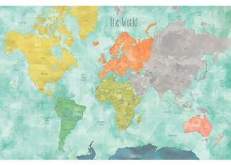 WallPops! WallPops Aquarelle World Map Decal