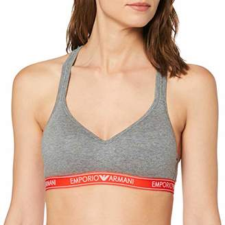 Emporio Armani Women's Padded Bralette Bra Plunge,A (Size: Small)