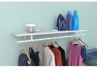 ClosetMaid Laminate Shelf Kit with Adjustable Hang Rod