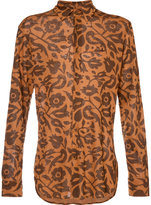 Vivienne Westwood Man - 'Frida' print cutaway shirt - men - Linen/Flax - 46