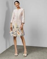 Ted Baker Elegant Textured Dress Coat