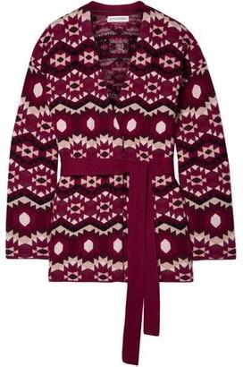 Altuzarra Clearwater Reversible Jacquard-knit Cashmere Cardigan