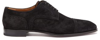 Christian Louboutin Cousin Charles Suede Derby Shoes - Mens - Black