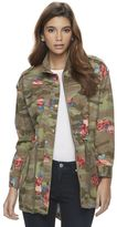 Candies Juniors' Candie's® Camo Floral Utility Jacket