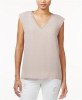 Bar III V-Neck Cap-Sleeve Top, Only at Macy's