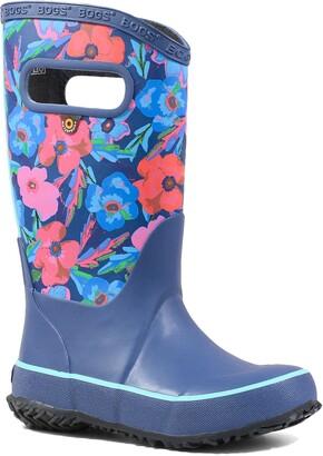 Bogs Pansy Print Rubber Rain Boot
