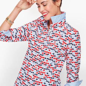 Talbots Classic Cotton Shirt - Hearts