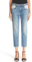 Alexander Wang Women's Denim X Ride Crop Flip Dye Jeans