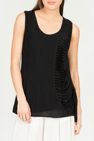 Milla Black Fringe Tank Top