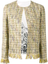 Etro - veste en tweed à bords frangés