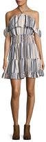 Vero Moda Striped Ruffle Dress