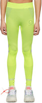 Off-White Off White Yellow Seamless Running Leggings