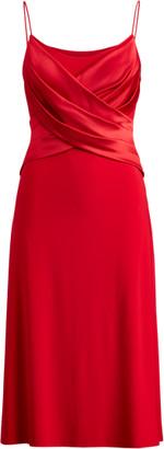 Ralph Lauren Wrap-Style Matte Jersey Dress