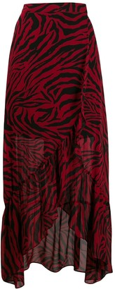 BA&SH Salvi zebra print skirt