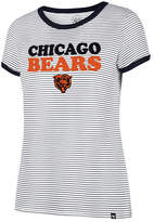 '47 Women's Chicago Bears Striped Ringer T-Shirt