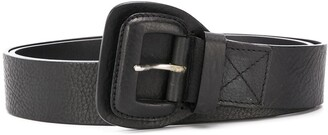 2005 Textured Leather Buckle Belt