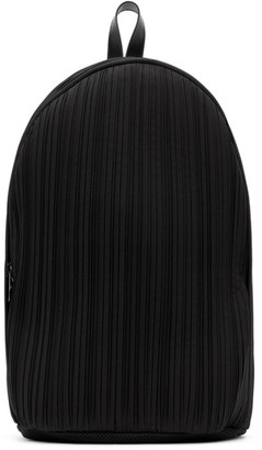 Pleats Please Issey Miyake Black Pleats Backpack