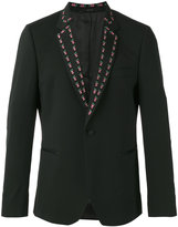 Paul Smith embroidered lapel blazer - men - Spandex/Elastane/Viscose/Wool - 36