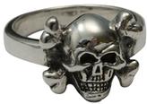 Femme Metale Jewelry Tiny Cross Bones Ring