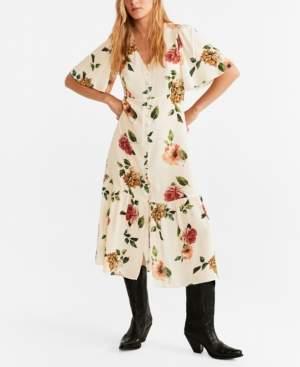 MANGO Midi Floral Dress