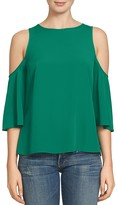 1 STATE 1.STATE Cold Shoulder Bell Sleeve Blouse