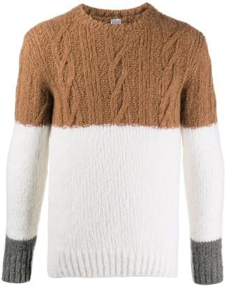 Eleventy Block Colour Chunky Knit Jumper